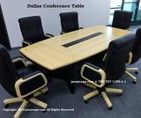 10ft. Dallas Natural Maple Boat Shape Conference Table