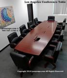Los Angeles 14' Conference Table in Enriched Walnut