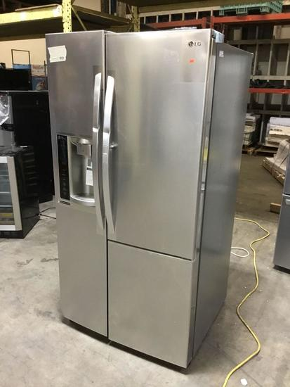 LG Stainless Steel-Door-in-Door Side-by-Side Refrigerator ***GETS COLD NEW NEVER USED***