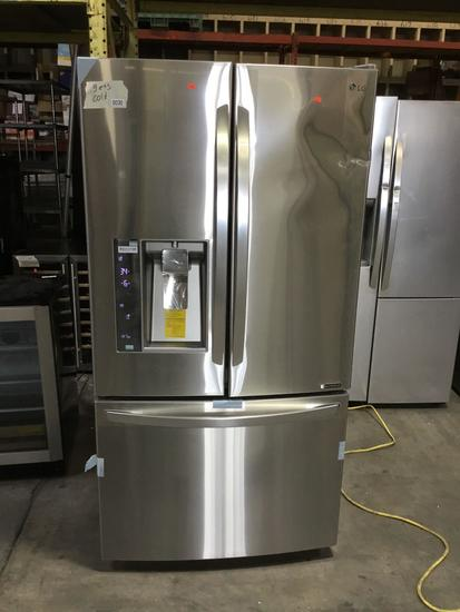 LG Counter Depth Stainless Steel French Door Refrigerator***GETS COLD NEW NEVER USED***