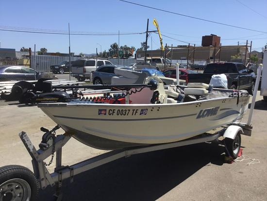 1999 14ft. Lowe Aluminum Boat with Galvanized Trailer***VIDEO OF START-UP IN DESCRIPTION***