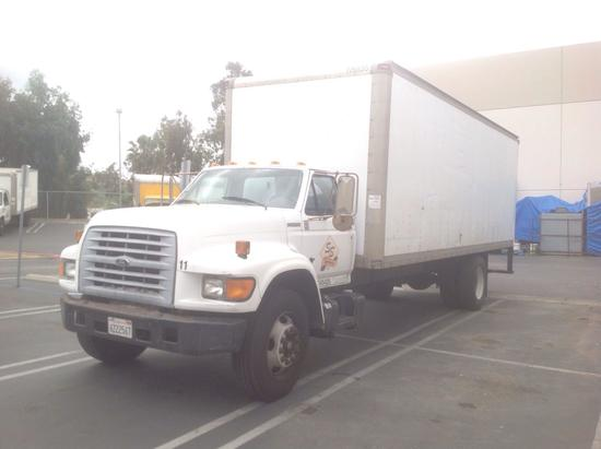 1997 Ford F700 24ft. Box Truck With 25,900 G.V.W.R.***FOR DEALER OR EXPORT ONLY***