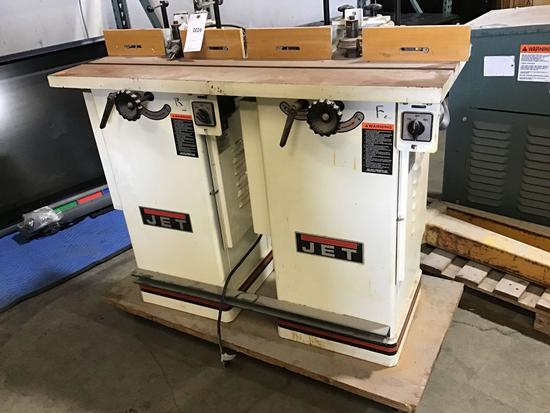 (2) Jet 1-1/2 HP Closed Stand Shaper/Planers