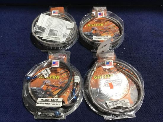 4) Assorted Frenokit Galfer Motorcycle Brake Line Kits