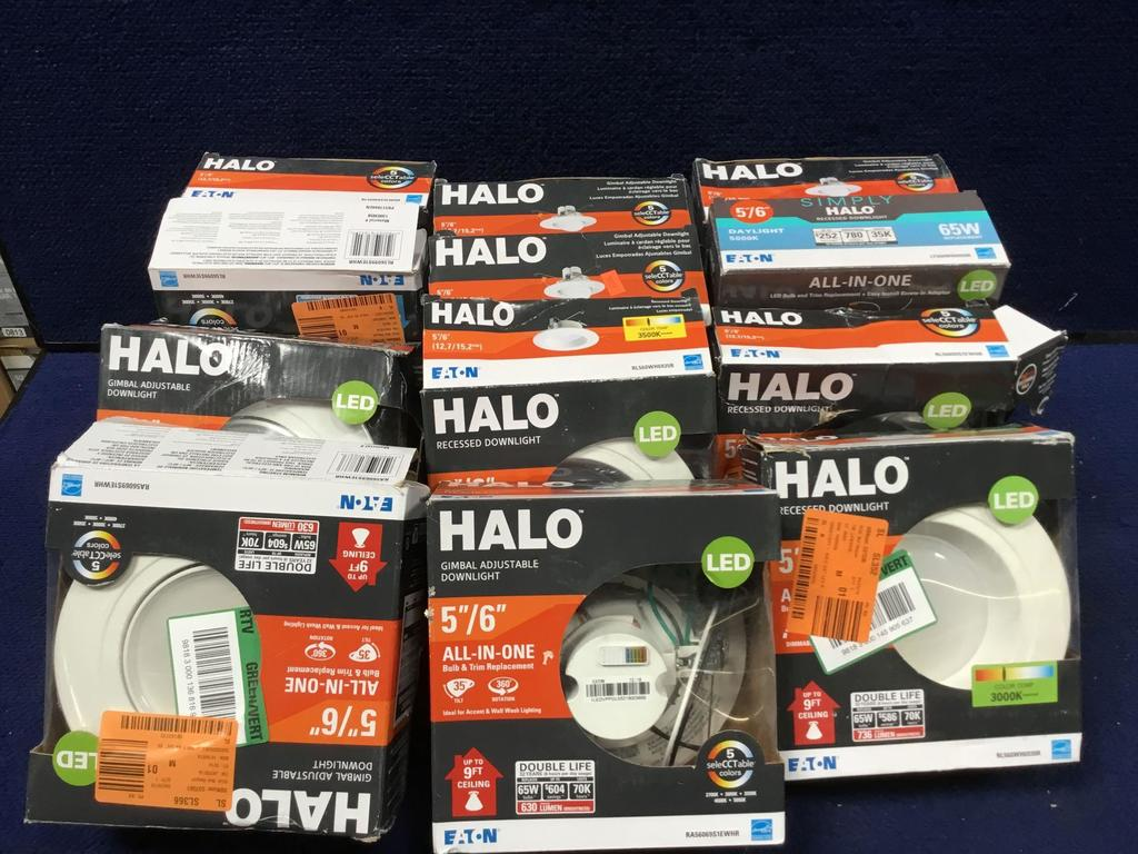 Lot Of Assorted Eaton Halo 5 6in Led Recessed Lighting Kits Estate Personal Property Lamps Lighting Fans Lamps Lighting Auctions Online Proxibid