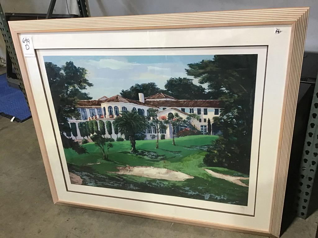 Large Framed Golf Casa Print