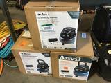 (3) Anvil 2 Gallon Pancake Air Compressors