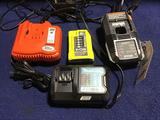 Lot of Assorted Power Tool Battery Chargers