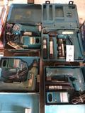 (4) Makita Cordless Power Tools
