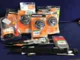 Lot of Assorted PowerCare Universal Trimmer Head, Mower Blades Etc.