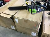 (4) 18in. Greenworks Pro 80V Brushless Motor Chain Saws