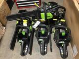 Lot of (7) 18in. Greenworks Pro 80V Brushless Motor Chain Saws