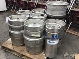 (7) Assorted Size Metal Beer Kegs