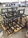 (5) Western Square Industries Metal Wine/Utility Barrel Stands