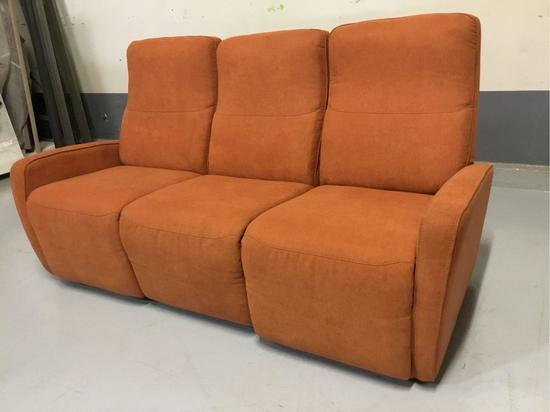 Palliser Sierra II Power-Reclining Burnt-Orange Fabric Sofa