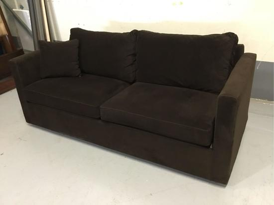 Dark-Brown Fabric Sofa
