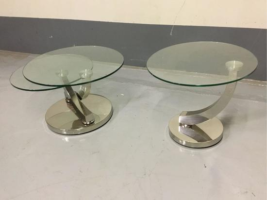 (1) Bellini Modern Living Allure Coffee Table and (1) Matching End Table