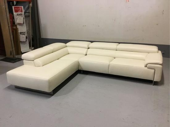 IDP Industria Divani E Poltrone Ming White Leather Sectional
