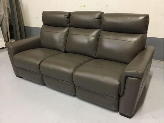 Violino Power-Reclining Brown Leather Sofa