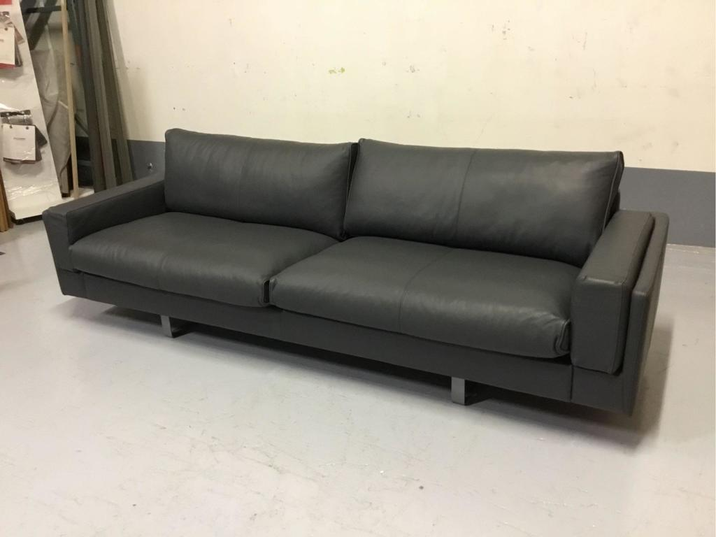 Fjords USA Inc. Seater Duo Anthracite Leather Endless Sofa