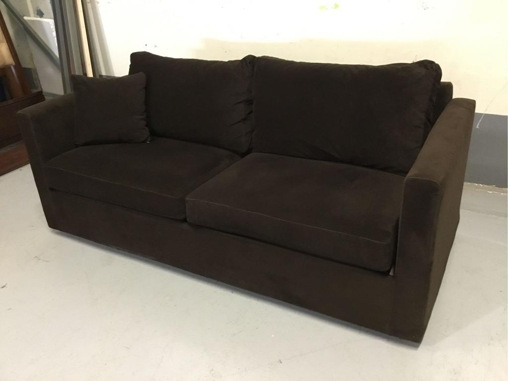 Dark-Brown Fabric Sofa