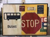 Guildmaster Traffic Sign Themed Hand Painted Graphic Art