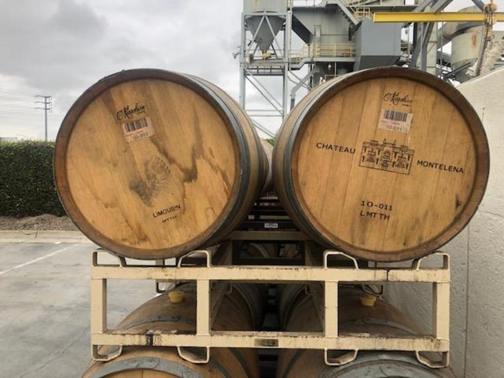 Wine Barrels with Rack