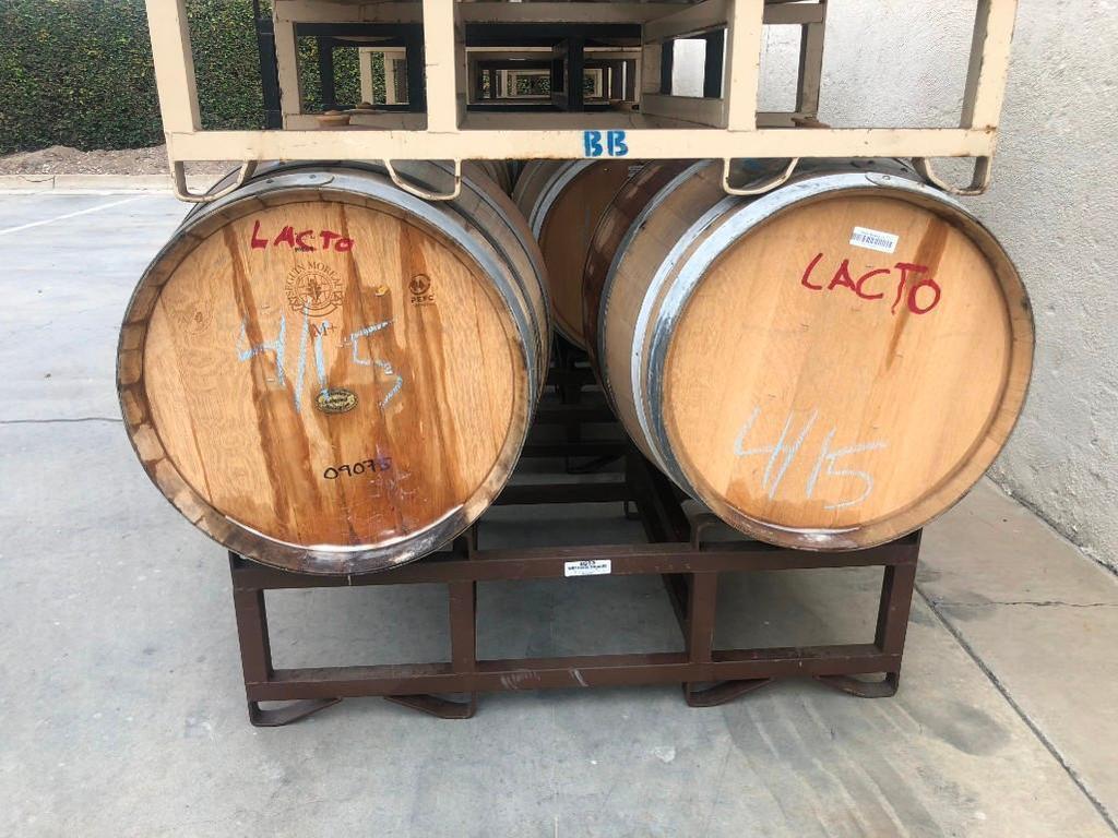 Wine Barrels with Rack
