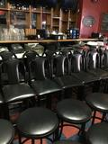 Black bar stool with back