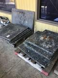 Assorted size granite table tops