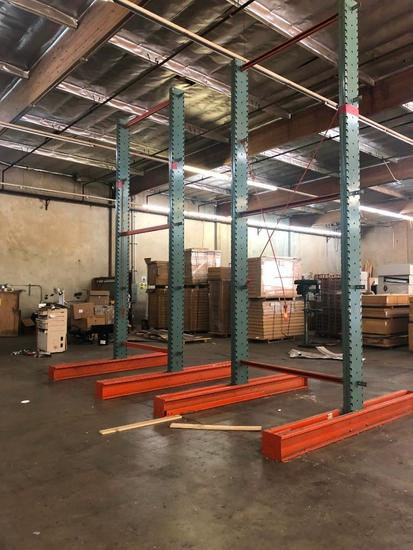 (2) Dual-Sided Cantilever Racks w/14 Fingers