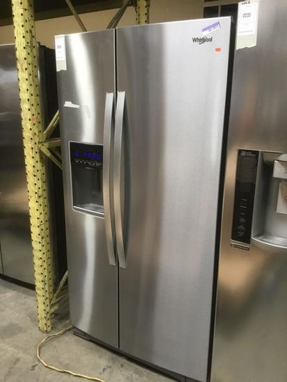 Whirlpool 21 Cu. Ft. Stainless Steel Built-In Side-By-Side Refrigerator