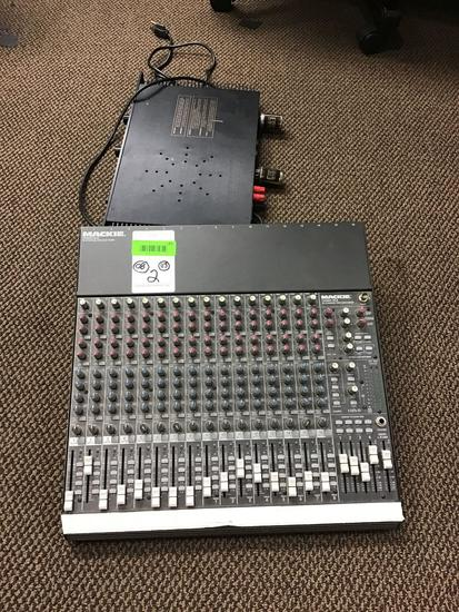 (1) Mackie 16-Channel Mixer and (1) BGW Amplifier