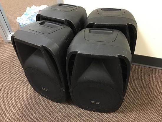 (4) Gemini Live Sound Speakers