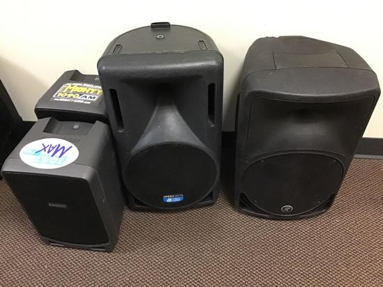 (4) Assorted Live Sound Speakers