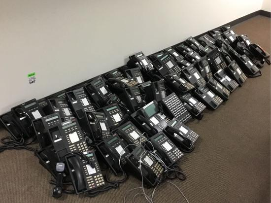 Lot of Lucent MLX-10DP Telephones w/KSU
