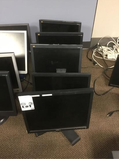Lot of (5) Assorted LCD Monitors