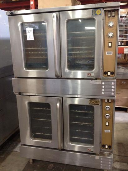 (1)Southbend. Double Oven. Electric. On legs. Model ES-20SC. Dist#C000129845/846.
