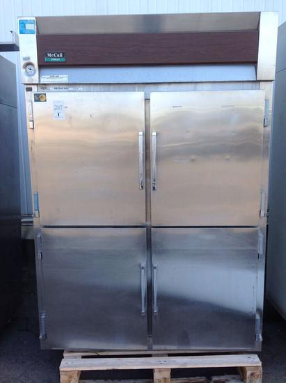 (1) McCall. Refrigerator. 2 Section. 4doors. Dist# 1006679. A86760.