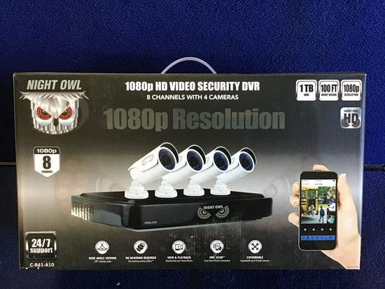 Night Owl 8 Channel 4-Camera 1080p HD Video Security System