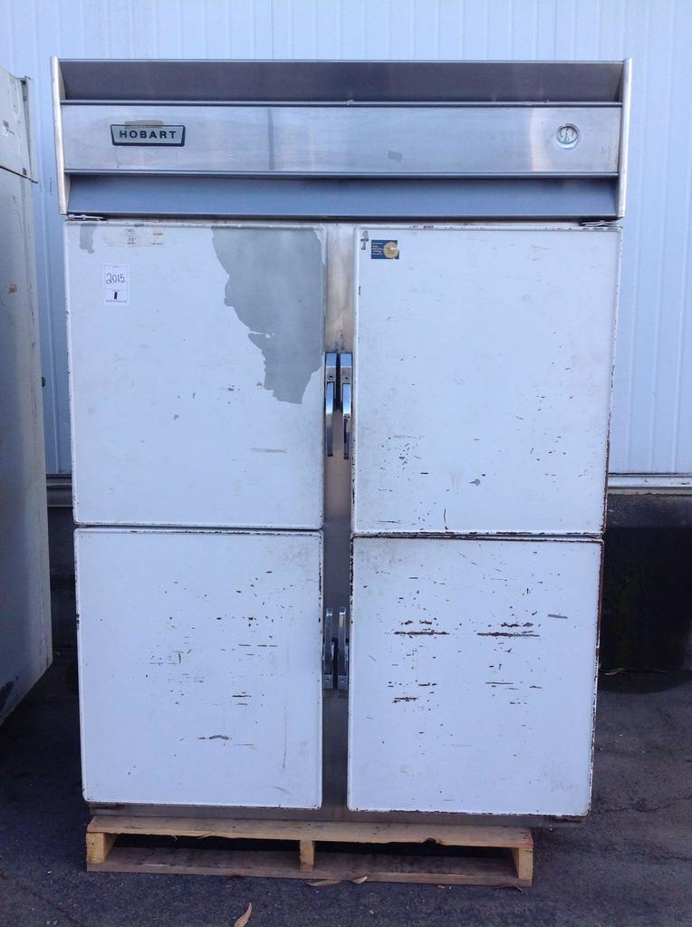 (1)Hobart. Refrigerator. 2section. 4doors. M2V. Dist#1006515. A69949. Not tested.