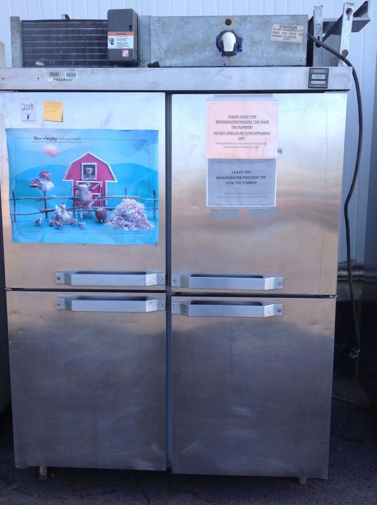 (1)Hobart. Freezer. 2 Section. 4doors. Model QF2. Dist#1006191. C000127720