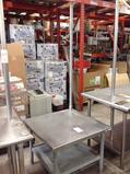 (1)Eagle. Table. Stainless Steel. 36x36. With Rack.