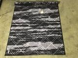 Reversible 5ft.x7ft. Grey rug
