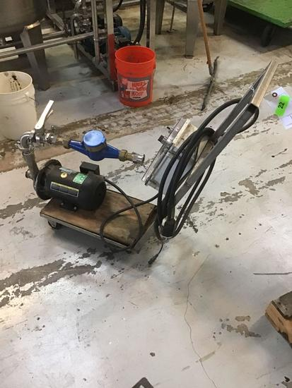 Electric Motor With Valve On Rolling Cart