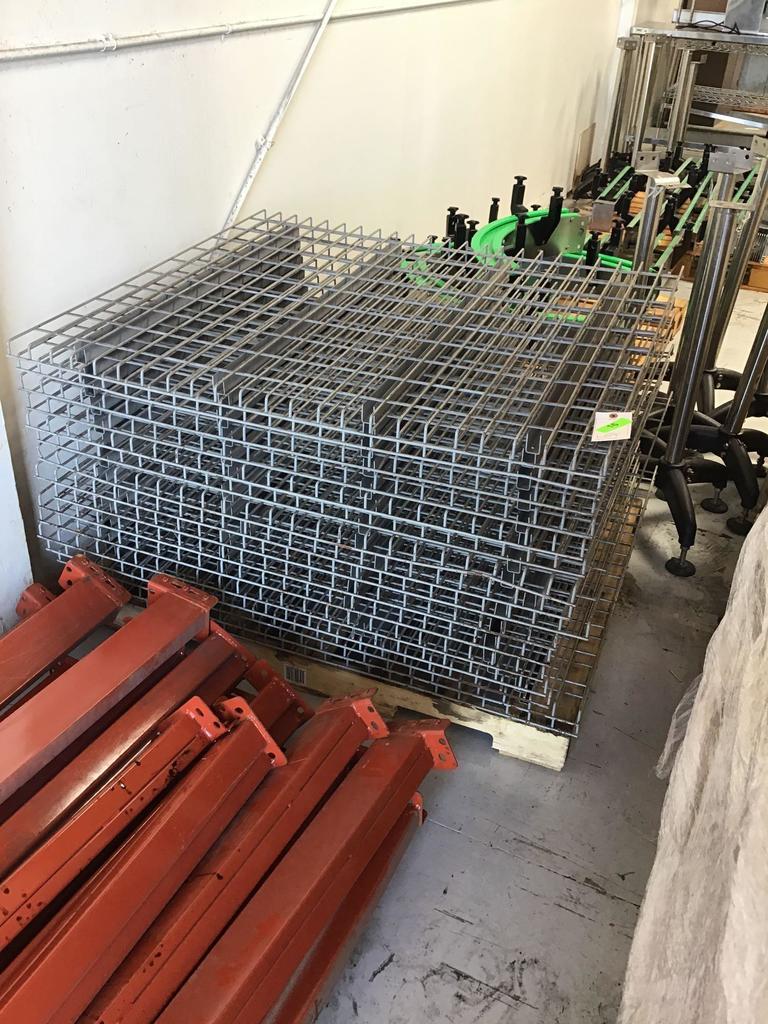 (16) Wire Pallet Rack Decking
