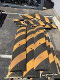 Lot of GNR Easy Rider Yellow-Striped Parking Lot Speed Bump