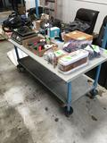 Portable Workbench With Swivel Casters