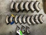 Lot of Food Grade Stainless Steel 90 Degree Elbows