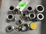 Lot of Food Grade Stainless Steel Adapters